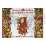 Santo Nicholas del navidad 4 el Wonderworker Tarjeton