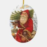 Santo Nicholas del navidad 4 Ornamentos De Reyes