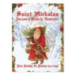 Santo Nicholas del navidad 4 Postal