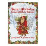 Santo Nicholas del navidad 4 Tarjeton