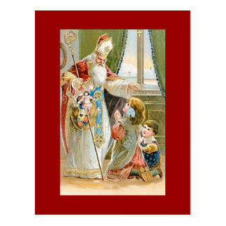 Santo Nicholas del navidad del vintage Tarjetas Postales