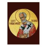 Santo Nicholas la tarjeta del rezo del Maravilla-t Postal