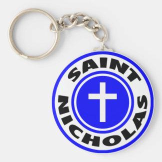 Santo Nicholas Llaveros Personalizados