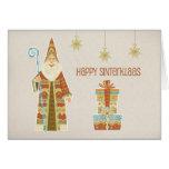 Santo Nicholas, presentes, Sinterklaas feliz Felicitaciones