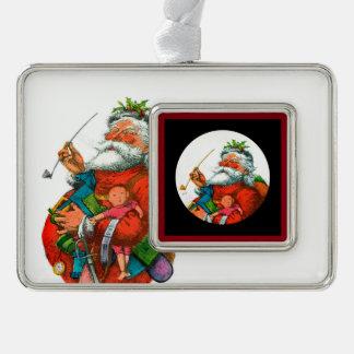 Santo Nicholas que lleva el suyo paquete Adornos Con Foto