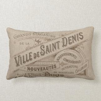 Santo parisiense del chalet de la publicidad del cojín
