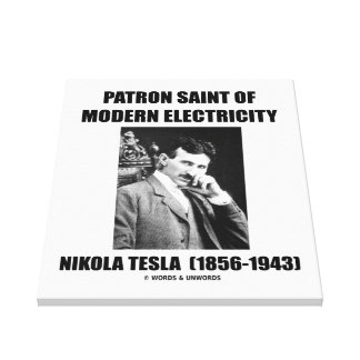 Santo patrón de la electricidad moderna (Nikola Te Impresion De Lienzo