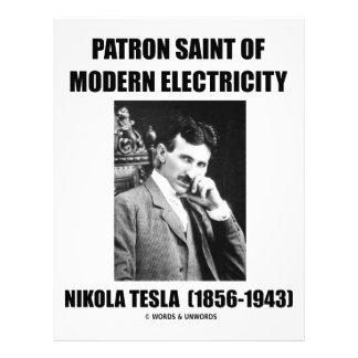 Santo patrón de la electricidad moderna (Nikola Te Plantilla De Membrete