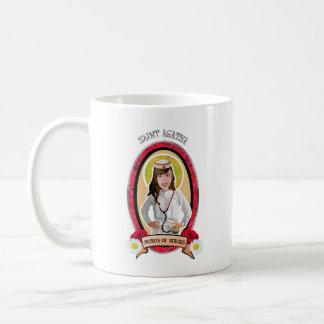 Santo patrón de la taza del icono del St Agatha d
