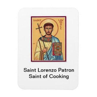 Santo patrón de Lorenzo del santo de cocinar el Imán Foto Rectangular