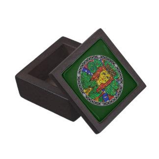 Santo patrón de St Dymphna de la depresión y de la Cajas De Regalo De Calidad
