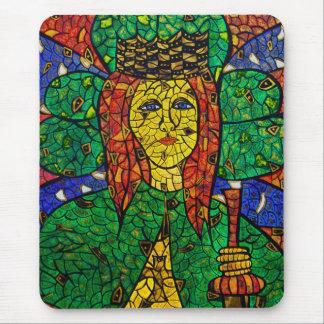 Santo patrón de St Dymphna de la depresión y de la Mouse Pad