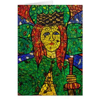 Santo patrón de St Dymphna de la depresión y de la Tarjeta De Felicitación