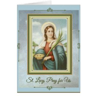 Santo patrón del St. Lucy|Lucia de la tarjeta de