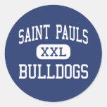 Santo Pauls - dogos - alto - santo Pauls Etiquetas Redondas