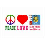 Santo Pedro y Miquelon del amor de la paz Postal