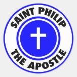 Santo Philip el apóstol Pegatina Redonda