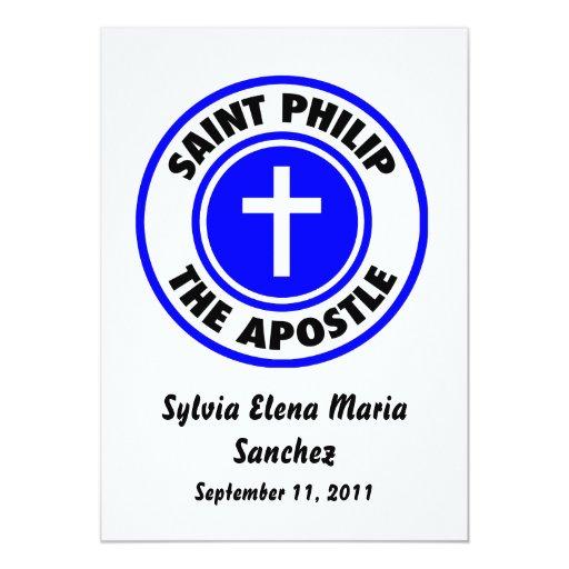 """Santo Philip que el apóstol invita Invitación 5"""" X 7"""""""