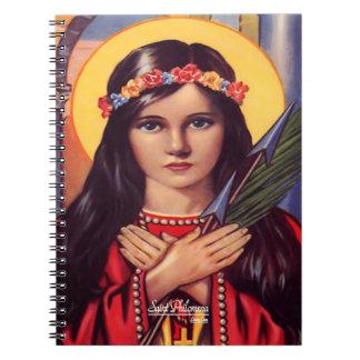 Santo Philomena, Patroness de la juventud Libro De Apuntes Con Espiral