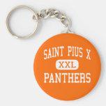 Santo Pío X - panteras - alto - Houston Tejas Llaveros Personalizados