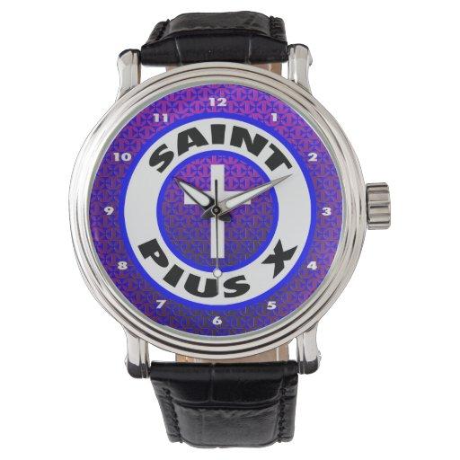 Santo Pío X Relojes De Pulsera
