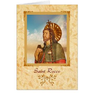 Santo Rocco - tarjeta de felicitación en blanco