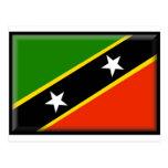 Santo San Cristobal y bandera de Nevis Postales