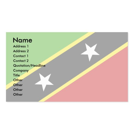 Santo San Cristobal y bandera de Nevis Tarjetas De Visita