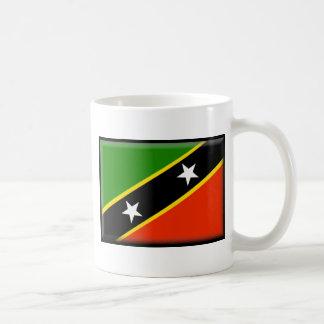 Santo San Cristobal y bandera de Nevis Taza Clásica