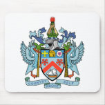 Santo San Cristobal y escudo de armas de Nevis Tapetes De Raton