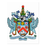 Santo San Cristobal y escudo de armas de Nevis Postal