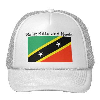 Santo San Cristobal y gorra de la bandera de Nevis