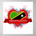 Santo San Cristobal y Nevis del amor del vintage I Póster