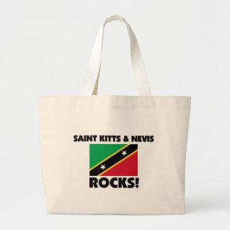 Santo San Cristobal y rocas de Nevis Bolsas Lienzo