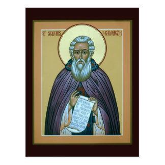 Santo Sergius de la tarjeta del rezo de Radonezh Postal