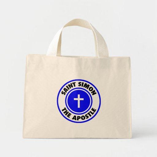 Santo Simon el apóstol Bolsa Tela Pequeña