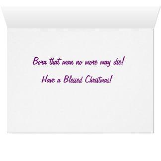 Santo Spirito Christmas Carol Card