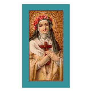 Santo subió de tarjeta del rezo o de visita de tarjetas de visita