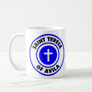 Santo Teresa de Ávila Taza Básica Blanca