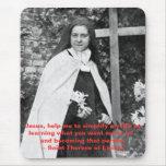 Santo Teresa de Lisieux Mousepad Alfombrillas De Raton