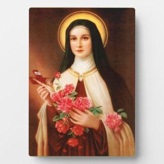Santo Thérèse del caballete de Lisieux Placa De Madera