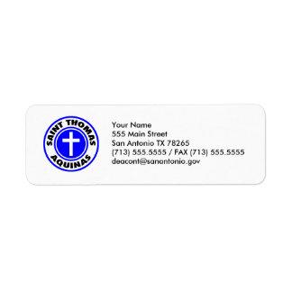 Santo Tomás de Aquino Etiqueta De Remite