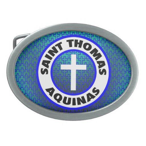 Santo Tomás de Aquino Hebilla De Cinturon Oval