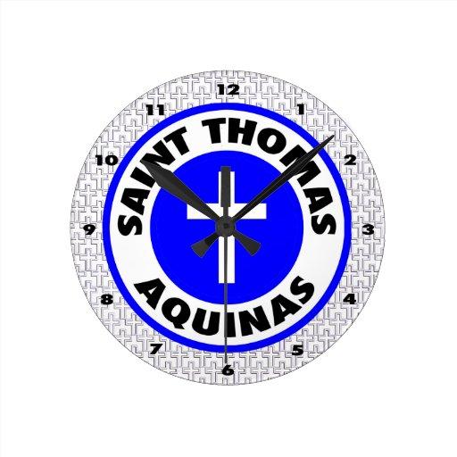 Santo Tomás de Aquino Reloj Redondo Mediano