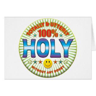 Santo totalmente tarjeta de felicitación