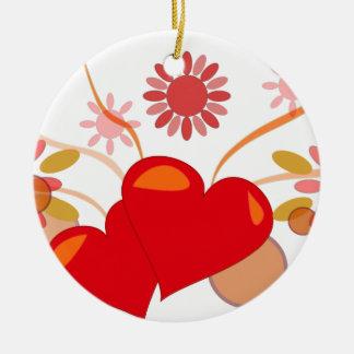 santo-valentin adorno navideño redondo de cerámica
