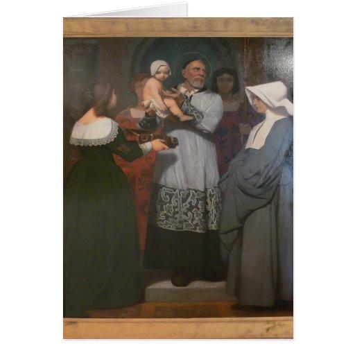 Santo Vincent de Jean-León Gerome- de Paule Tarjeta