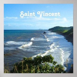 Santo Vincent y granadina Póster