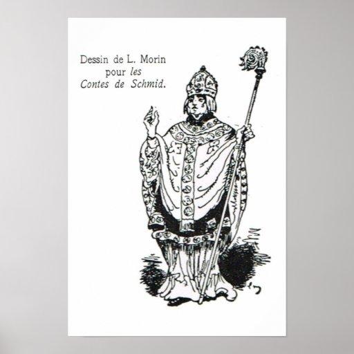 Santo y obispo impresiones