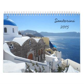 Santorini 2015 calendar